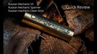russian Mechanic V3, Spanner, Clean Stick quick review
