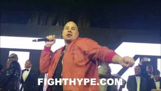 """FAT JOE TURNS CROWD """"ALL THE WAY UP"""" AT FLOYD MAYWEATHER"""