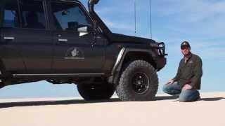 Mud terrain Tyre in sand