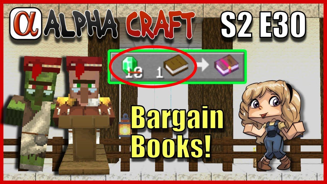 Bargain Books!  Better Villager Trades  Minecraft AlphaCraft S12