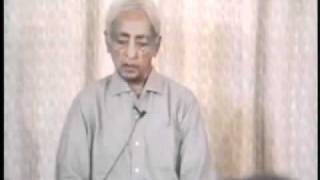 Jiddu Krishnamurti - Supreme Intelligence Is To Have No Illusions - 1/6