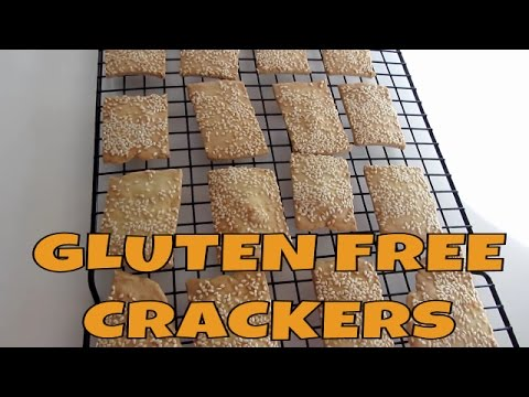 Gluten Free Rice, Millet and Sesame Seed Crackers