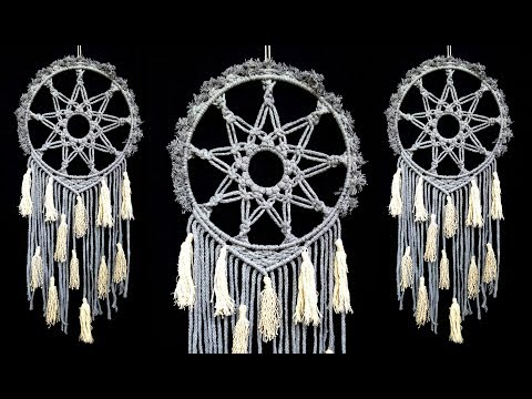 DIY Macramé Wall Hanging Easy Cotton Knot Star | Handcrafted Dream Catcher | Home Decor Ideas