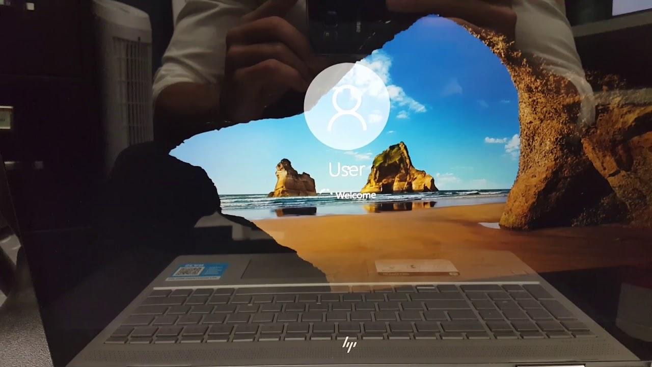 hp pavilion laptop black screen after login windows 10