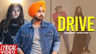 Drive (Lyrical ) | Aman Sandhu | Punjabi Lyrical | Planet Recordz