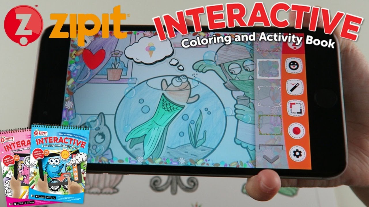 Zipit Interactive Coloring And Activity Book With App