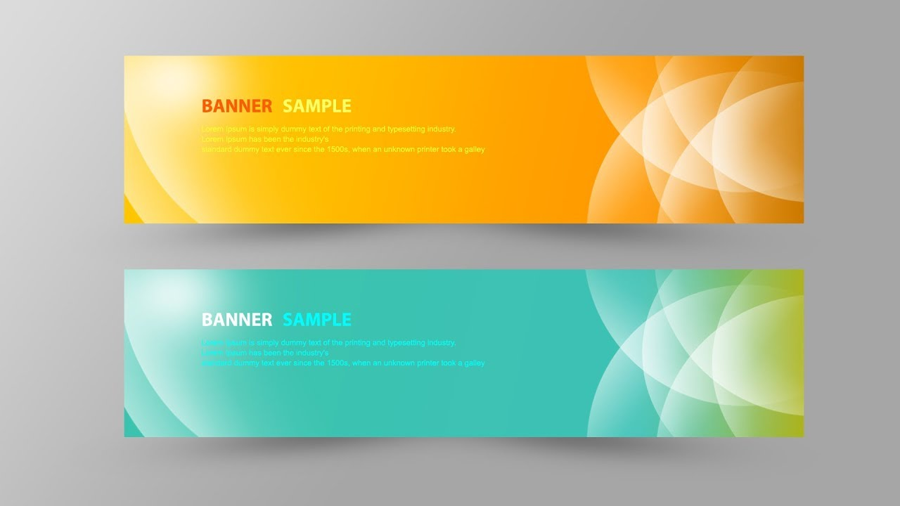 adobe photoshop tutorial graphic design tutorial how to design simple banner in photoshop cc