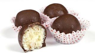 """Домашние конфеты """"Баунти"""". Подробный рецепт приготовления. #быстро_к_чаю"""