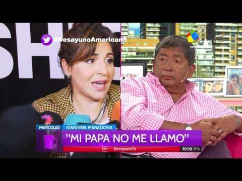 Gianinna, Dalma y Claudia le apuntaron a Diego Maradona