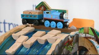 Thomas & Friends Wooden Railway Lumber Yard Waterfall Adventure From Fisher-price