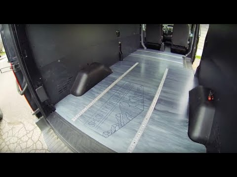 VLOG #6 - Ford Transit Production Van Build. Floors, L-Track and Seat Mounts.