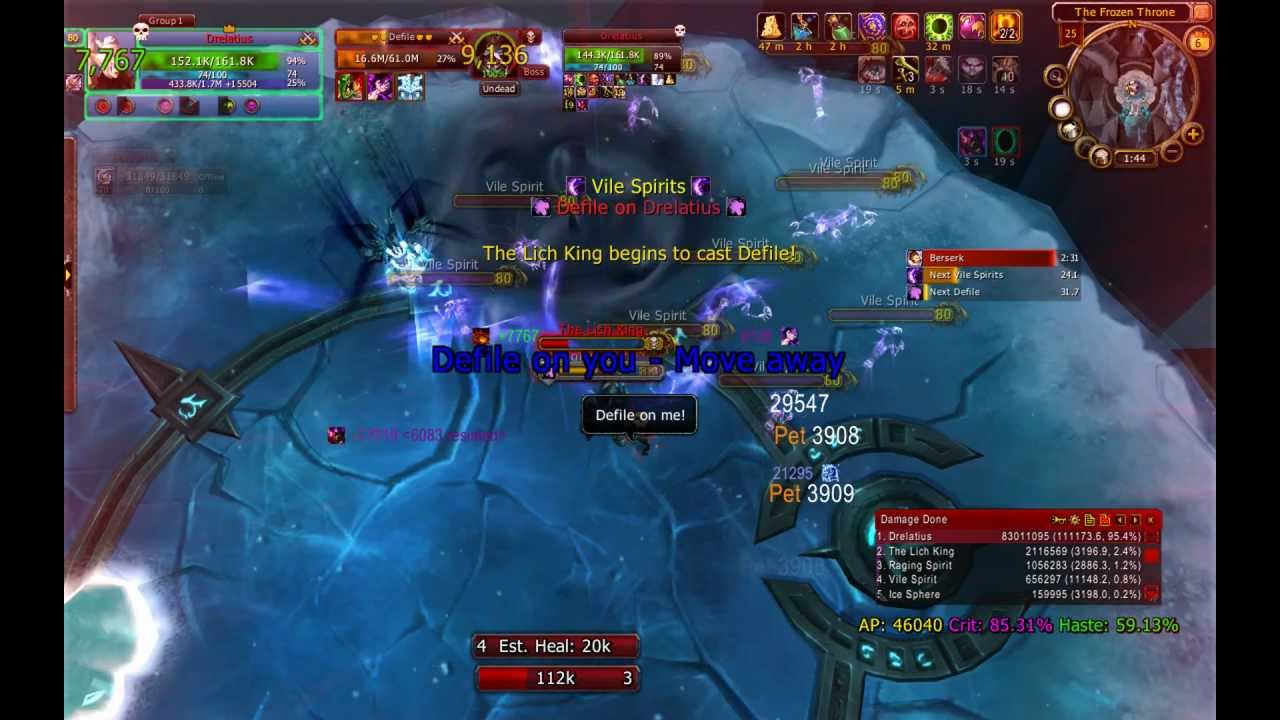 80 DK solo : The Lich King 25 normal