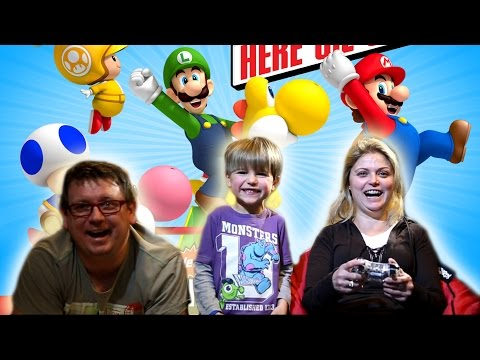 Fun with New Super Mario Bros Wii U - Sammie and Mammy