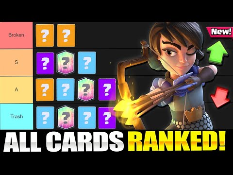 *NEW* Clash Royale CARD TIER LIST!! Ranking Every Card (April 2020)