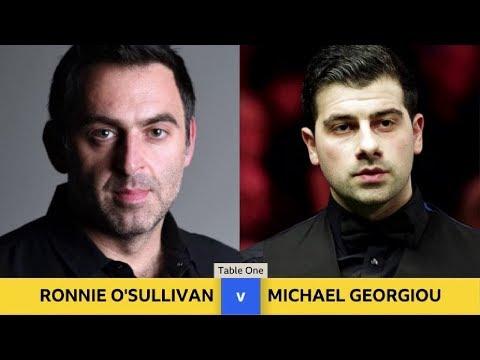Ronnie O'Sullivan vs Michael Georgiou Scottish Open snooker 2017