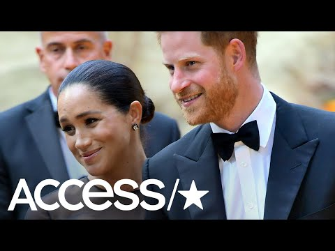 Meghan Markle And Prince Harry Make Red Carpet Debut At 'The Lion King' European Premiere