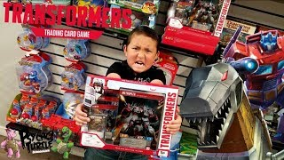 NEW TRANSFORMERS TRADING CARD GAME METROPLEX DECK! THIS NEWEST CARD IS HUGE!!!