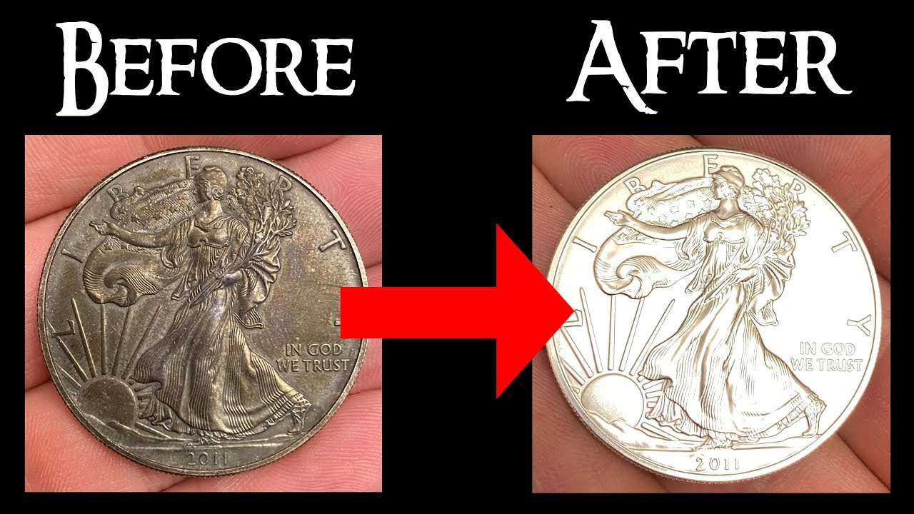 how to clean silver coins youtube
