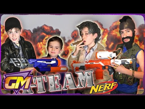 The A-Team: Ultimate Nerf War Vs Bad Kids in Fun Skit