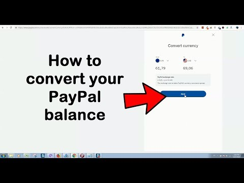 How to convert your PayPal balance to a different currency