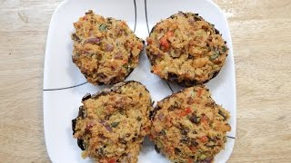 Stuffed Mushrooms Recipe | Stuffed Portobello Mushrooms