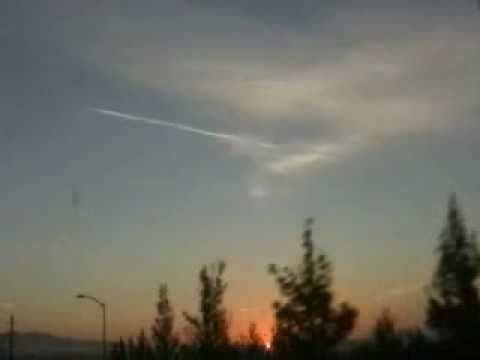 Chemtrails over San Ramon, CA  Weather Modification US miltary turned on Americans HAARP