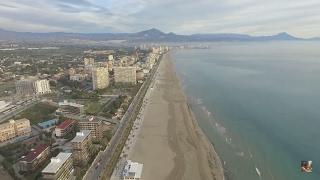 playa san juan a vista de drone dji phantom