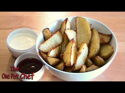 Oven Baked Spicy Potato Wedges | One Pot Chef