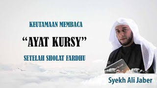 Keutamaan Membaca Ayat Kursi Setelah Shalat Fardu Dapat Jaminan Surga Ceramah Syekh Ali Jaber