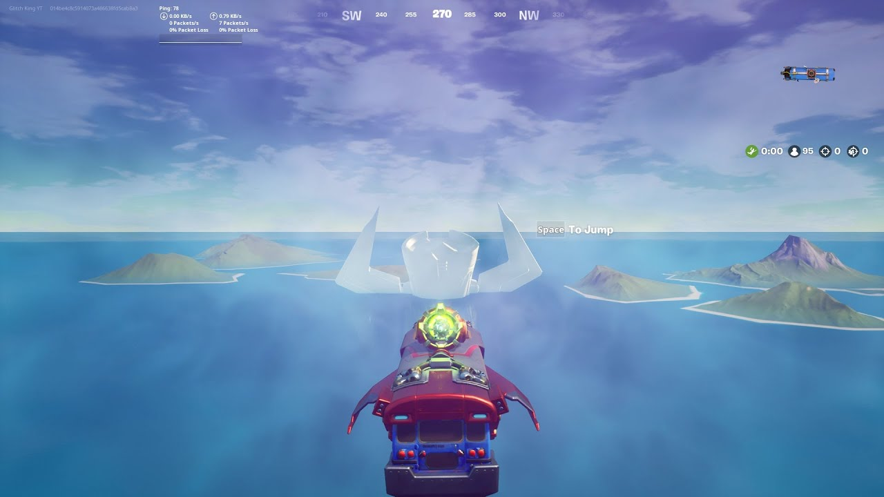 How to drive the BATTLE BUS into GALACTUS in FORTNITE
