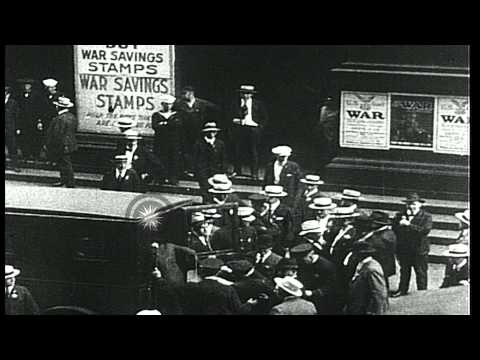 William Dudley Haywood and W.W.I.( Industrial Workers of the World) arrested in O...HD Stock Footage