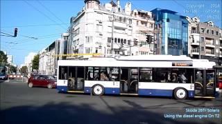 Skoda 26Tr Solaris / 13??? / Burgasbus / Line T2 / Using the diesel engine