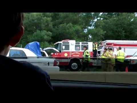 Huge Crash on Highway 53 near Elk Grove Village