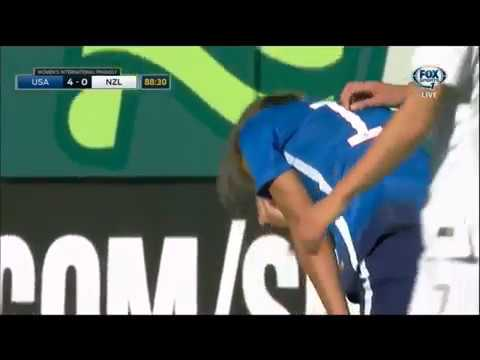 Tobin Heath gets punched in the face