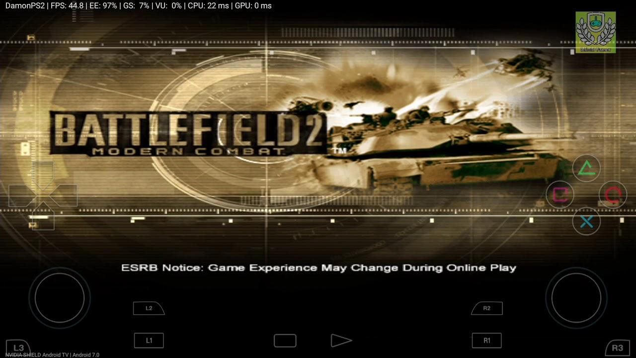 Damonps2 Pro Emu Nvidia Shield Hd Test Battlefield 2 Modern