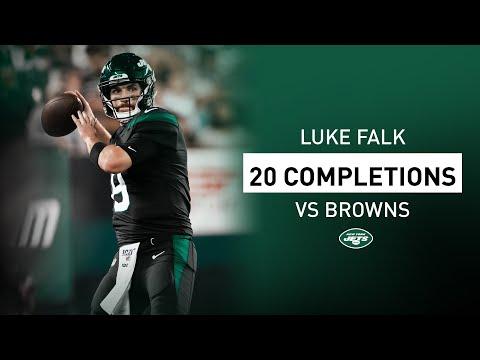 Luke Falk's 20 Completions In NFL Debut   New York Jets   NFL