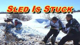 Snowmobiler Stuck in Slush Swamp: Bliss, NY 3-17-18: PART 2