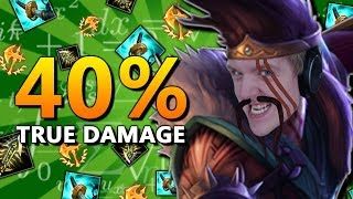 LIKE THROWING AXES AT PAPER! 40% TRUE DAMAGE DRAVEN ADC