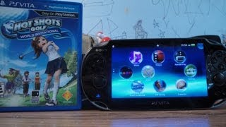 Playstation Vita Game Cartridge Unboxing & Install (Hot Shots Golf World Invitational)