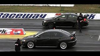 MITSUBISHI EVO vs SUBARU STI/WRX DRAG RACING
