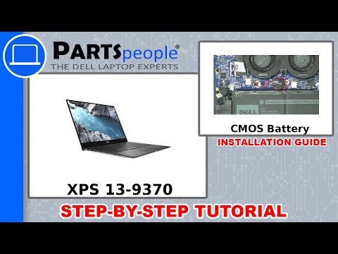 Dell XPS 13-9370 (P82G001) CMOS Battery How-To Video Tutorial