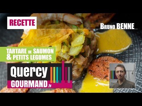 Recette : Tartare saumon et petits légumes