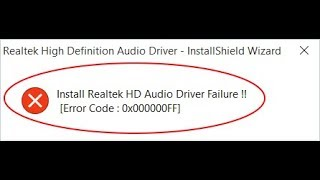 fix Install Realtek HD Audio Driver Failure in windows 10