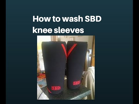 How to clean SBD knee sleeves