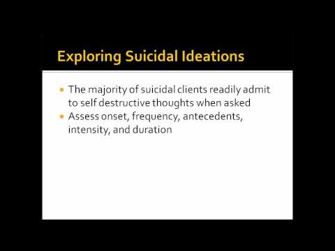 Suicide and Risk Assessment in Counseling