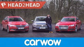 Audi A4 Avant vs Volkswagen Passat Estate vs Skoda Superb Estate | Head2Head
