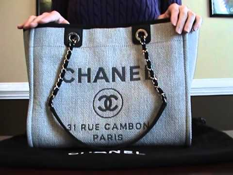 164203aa8b47 Chanel Deauville Tote Review - YouTube