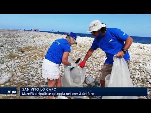 San vito lo Capo, Marevivo ripulisce spiaggia nei pressi del faro