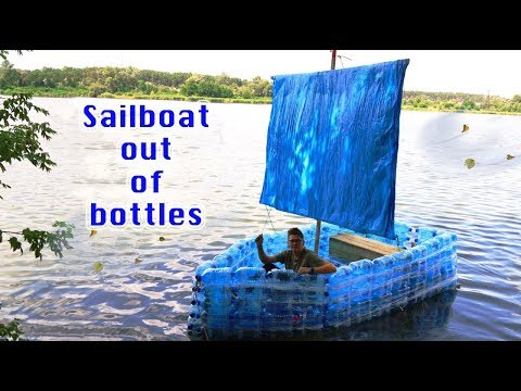 HOW TO MAKE - Sailboat out of bottles