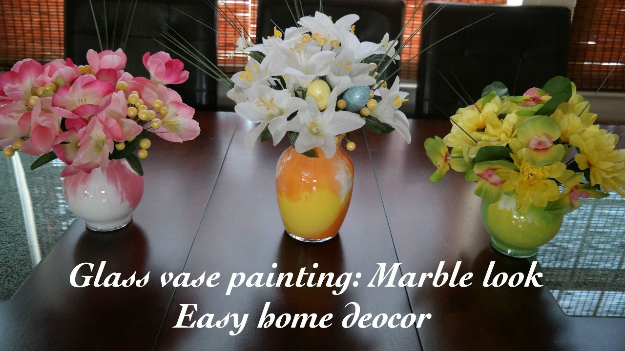 How to paint glass vases marble look easy home decor youtube how to paint glass vases marble look easy home decor reviewsmspy